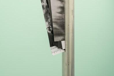 Manor Grunewlad, Untitled, alluminium, photocopy