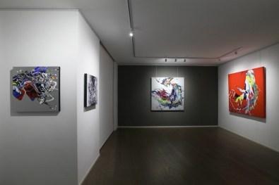 Katrin Fridriks. Forces of Nature, veduta della mostra, Dellupi Arte, Milano