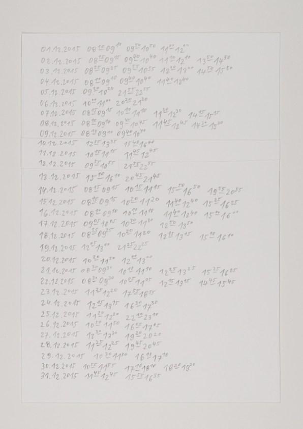 Jens Risch, Notes for silk piece, 19 cards, 2011-2014, cm 16x10 each © Jens Risch Courtesy Viasaterna - Bischoff Projects Photo by Joerg Baumann