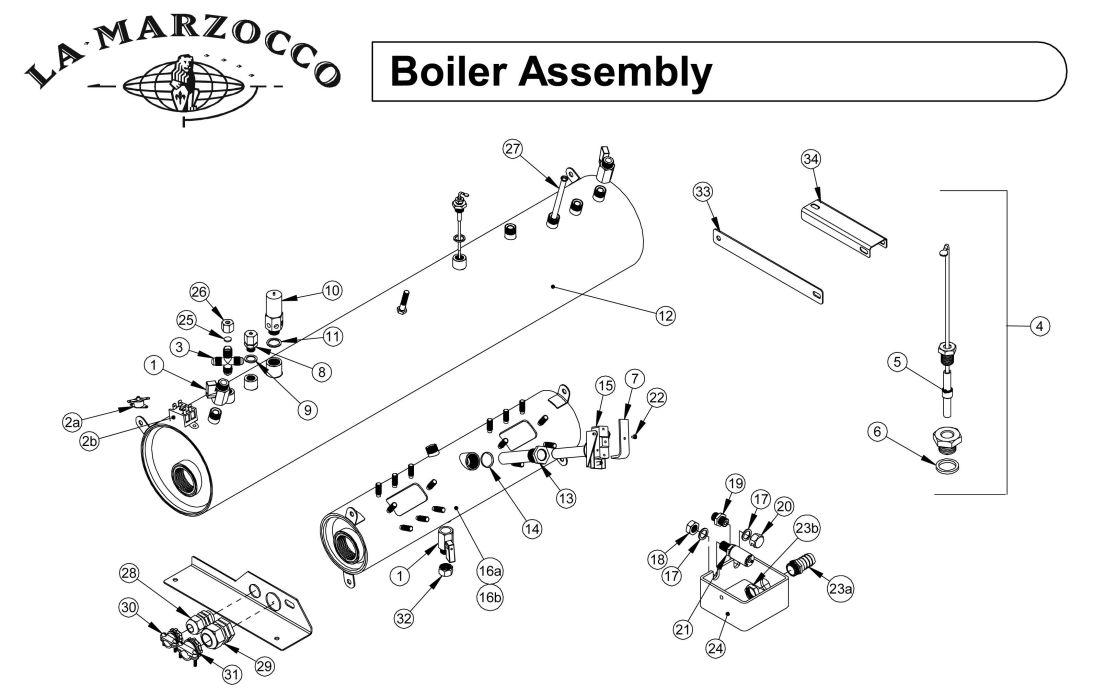 La Marzocco Boiler - Drawing E - Espressocare