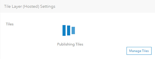 Using tile packages for publishing hosted tile layers
