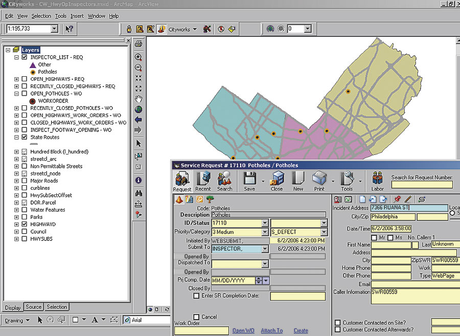 ArcNews Summer 2006 Issue -- GIS-Based Work Order Management System