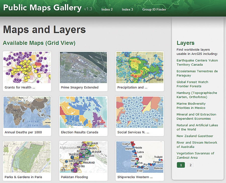 New Map Template Provides Fast Access to Web Maps ArcNews