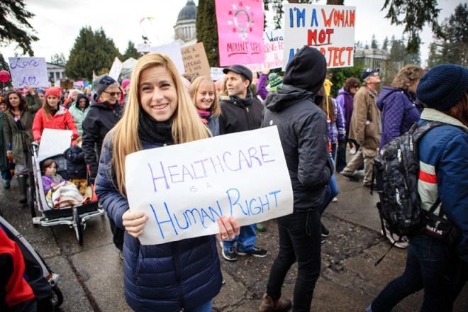 Women's March in Olympia 2017
