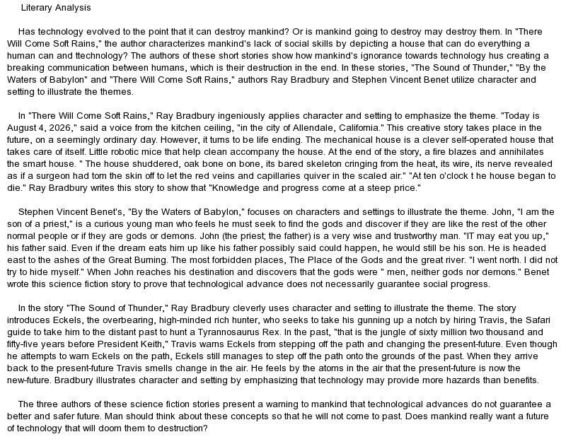 literary essays sample literary essay co goethe s literary essays - essay examples in literature