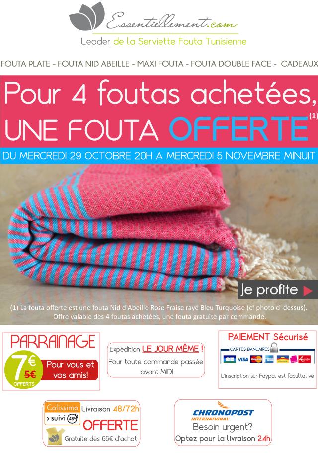 une fouta gratuite d s 4 achet es le blog la vraie fouta tunisienne. Black Bedroom Furniture Sets. Home Design Ideas