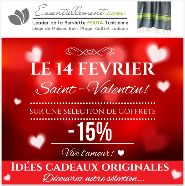 id es cadeaux st valentin pas cher le blog la vraie fouta tunisienne. Black Bedroom Furniture Sets. Home Design Ideas