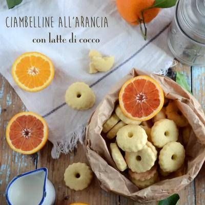 Ciambelline all'arancia con latte di cocco