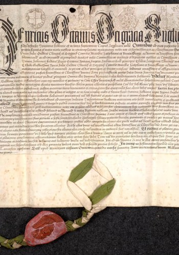 Deed granted by Henry VIII for the dowry for Anne of Cleves upon their marriage