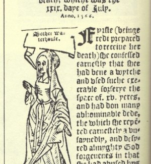 1566 Pamphlet detailing the trial of Agnes Waterhouse of Hatfield Peverel
