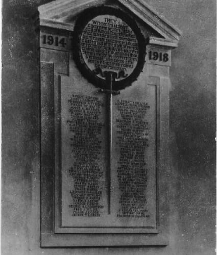 Great Dunmow - War memorial in church