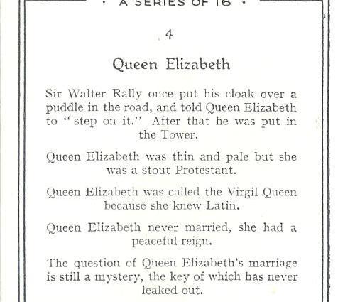 Churchman's Howlers Elizabeth I