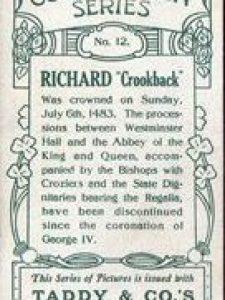 Richard III – Taddy's Coronation Series