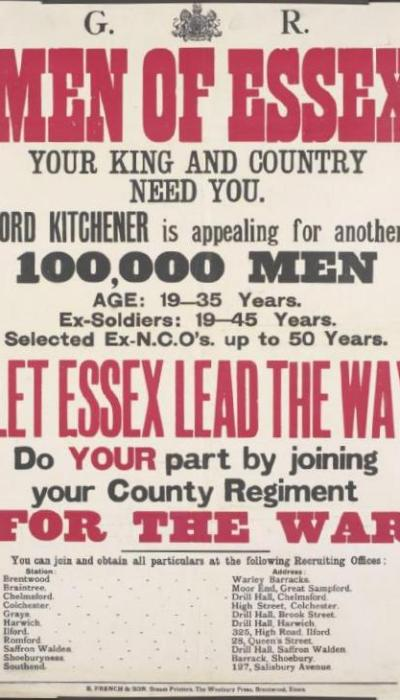 Men of Essex Recruiting Poster