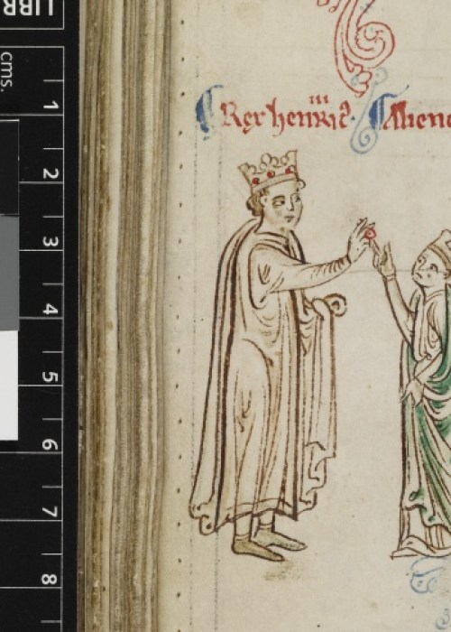Royal 14 C VII f.124v Marriage of Henry III and Eleanor of Provence