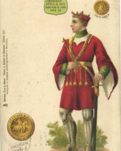 Tuck's Kings & Queens Postcards - Henry V