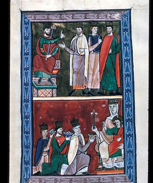 Arundel 157 f.4 Magi