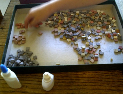 Making a Roman Mosaic
