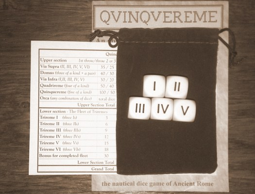 Quinquereme Roman Dice Game