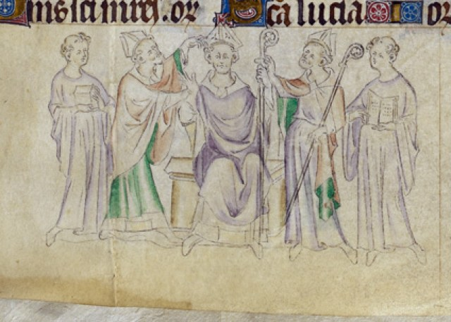 Royal 2 B VII   f.317 Nicholas and bishop