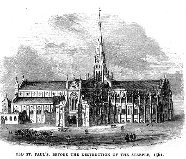 Old St Paul's Cathedral before 1561