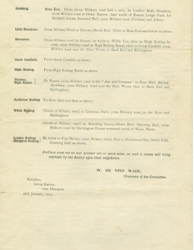 Great War - Great Dunmow's Emergency Committee