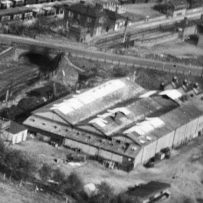 Dunmow Flitch Bacon Factory from the air in 1928