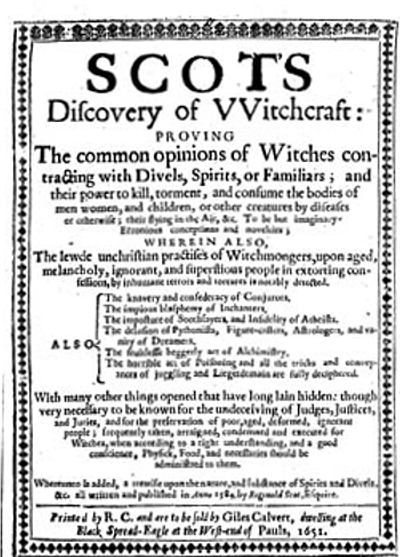 Reginald Scot - Discovery of Witchcraft