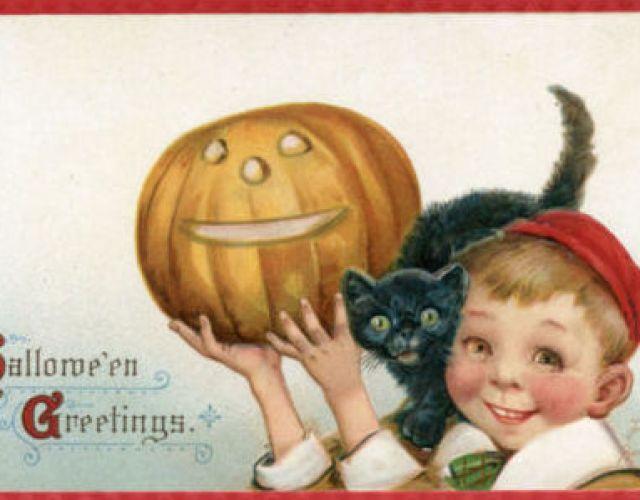 American Halloween postcards