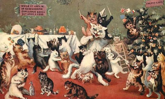 Postcards from the Front: Britain 1914-1919 - Louis Wain's Christmas Cats