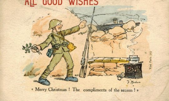 Postcards from the Front: Britain 1914-1919 - Fergus Mackain's Christmas Greetings postcard
