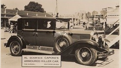 Al Scarface Capones car at the Kursaal