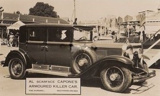 Al Capone's Car at the Kursaal in 1933