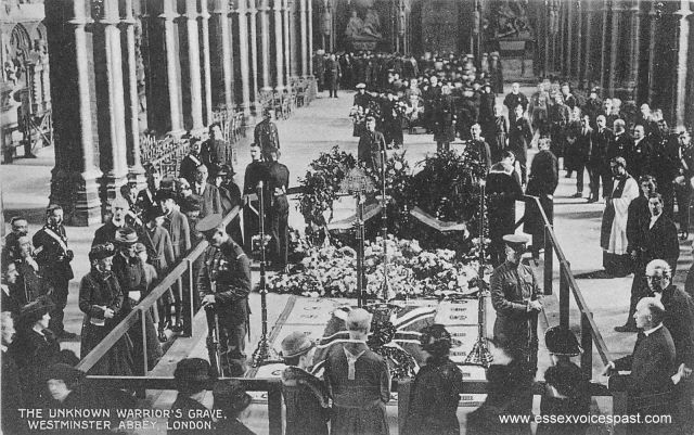 The Tomb of the Unknown Warrior, Westminster Abbey, November 1920.