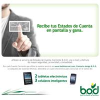 B.O.D. ofrece servicio gratuito de estados de cuenta por e-mail