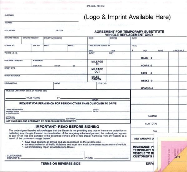 Car Rental Agreement Sample Company Car Rental Agreement Car Rental