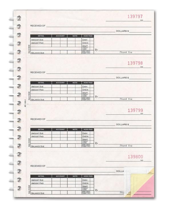 Buy Cash Receipt Books - 2, 3, or 4-part - Estampe - Cash Recepit