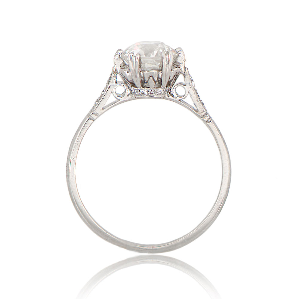 1 14ct vintage style engagement ring crown wedding rings Vintage Styled Engagement Ring