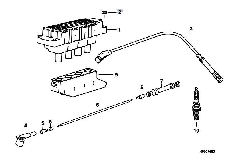 bmw e46 wiring spark plug coils