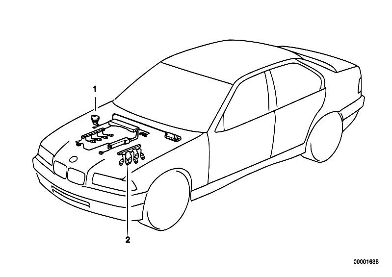 Original Parts for E39 520i M52 Touring / Engine Electrical System