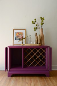 Repurposed tv cabinet becomes a wine rack named 'Ophelia ...