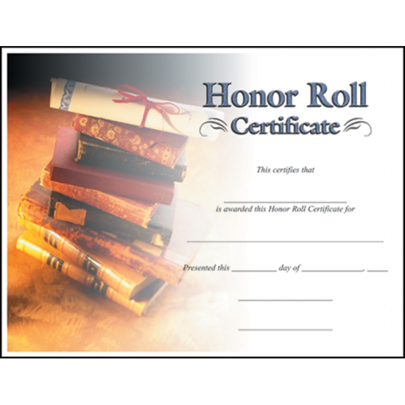 Academic Certificates - free printable honor roll certificates
