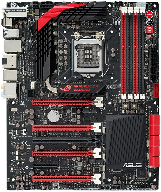 The upcoming Z87 ASUS ROG Maximus VI Extreme motherboard