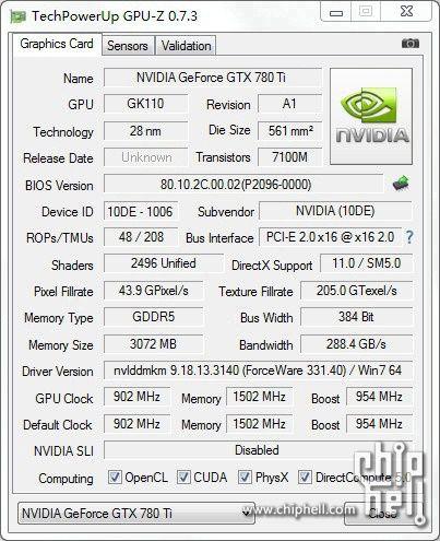 Nvidia GeForce GTX 780 Ti not 16x9-900-100