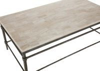 Vida Stone-Top Coffee Table | Coffee Tables | Ethan Allen