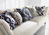 Crewel Embroidered Ikat Pillow   Pillows