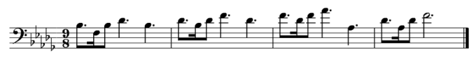 Ride of the Valkyries musical simple - notation