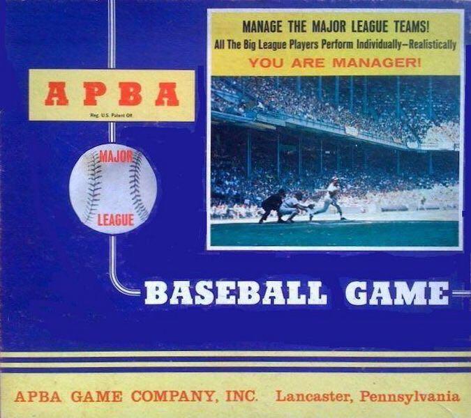 APBA Baseball Basic Game Board Game - APBA Games (Dice*Sports