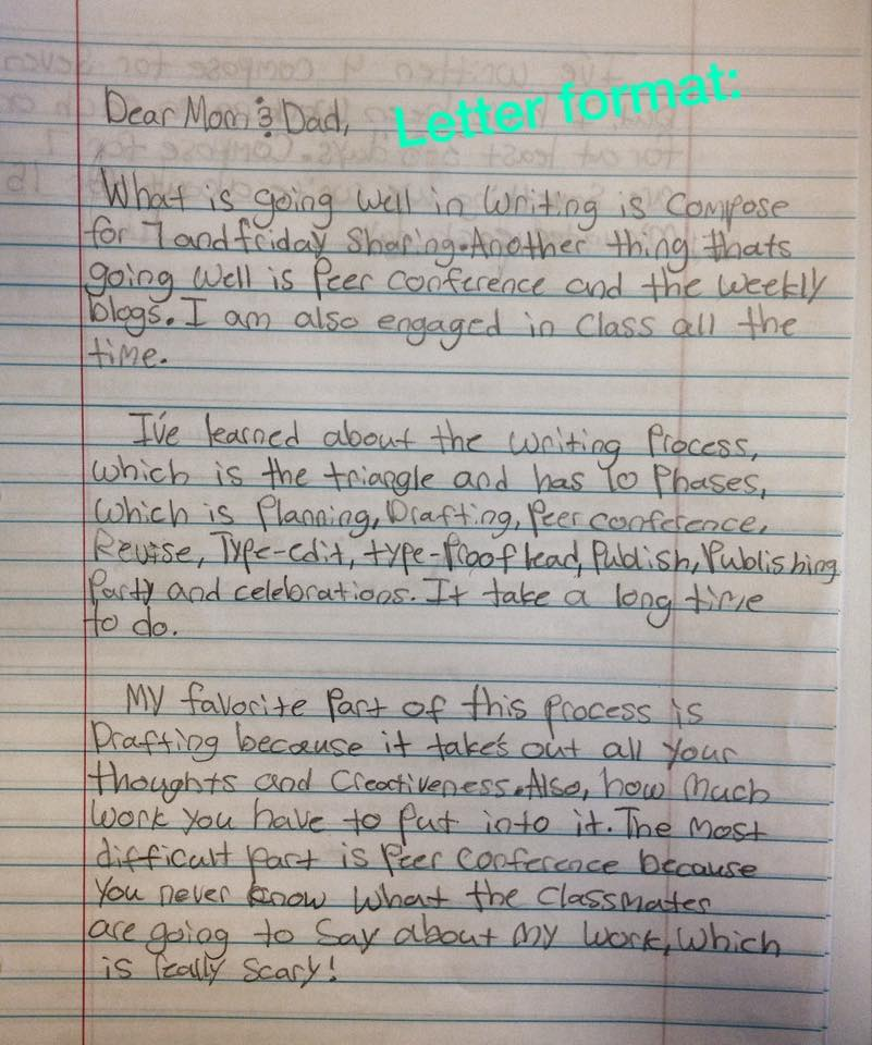 Dear Mom 7th Graders Write Midterm Letters - Ethical ELA - letters to the parents