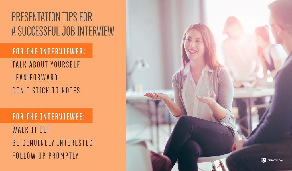 Presentation Tips for a Successful Job Interview Ethos3